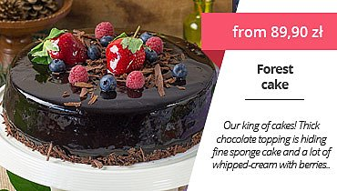 Forets Cake with delivery